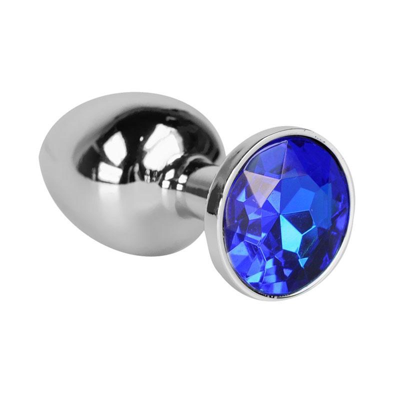 Steel Metal Jeweled Butt Plug Medium