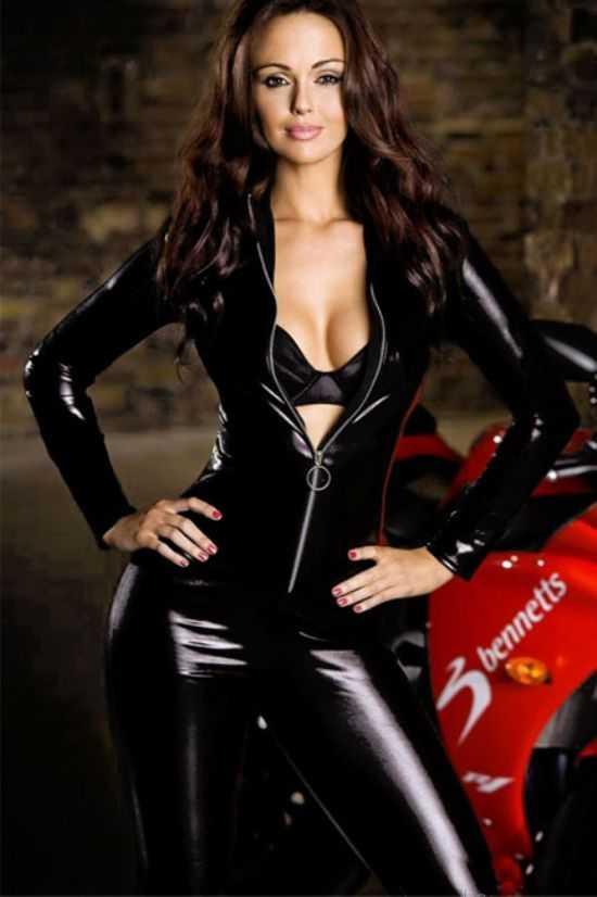 Deri Motorcu Kız kostümü